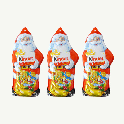 Kinder Santa Chocolate x3